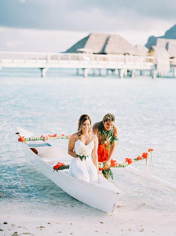 Intimate elopement in Bora Bora