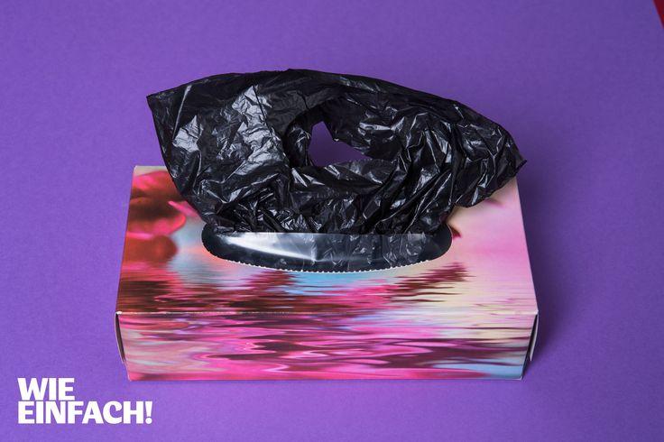 Leere Kleenex-Boxen eignen sich perfekt, um Plastik-Tüten zu verstauen. Foto: Torsten Kollmer
