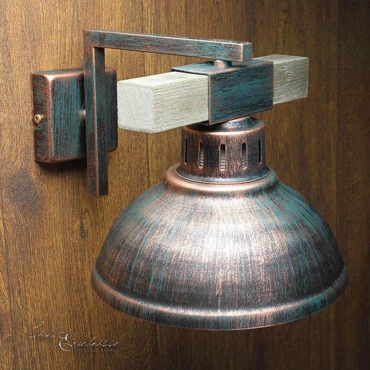 Geschmackvolle Wandleuchte in Kupfer E27 Wandlampe Vintage Esstisch Beleuchtung | eBay