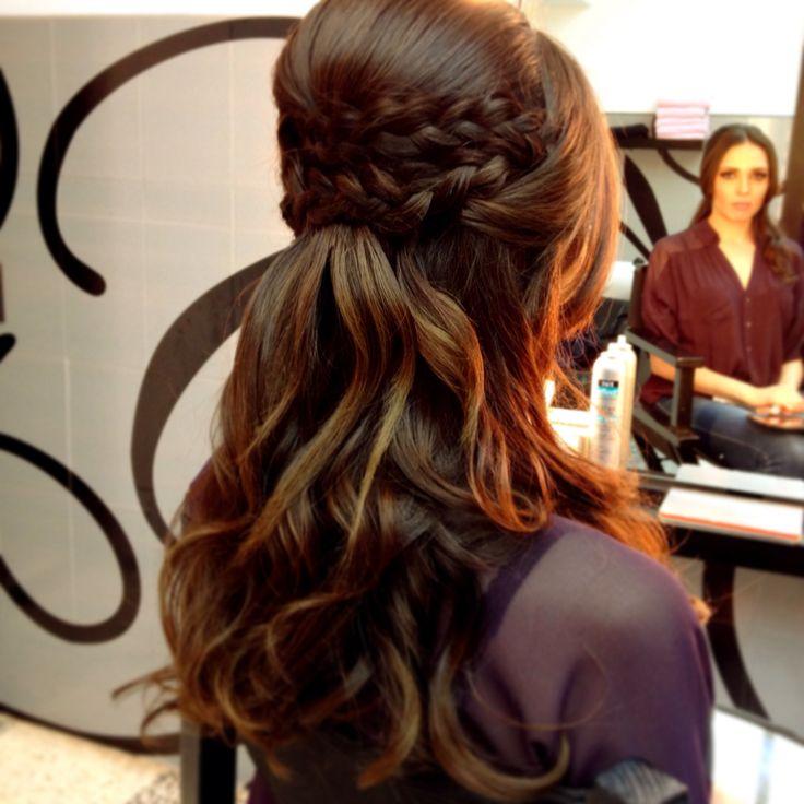 Peinado con trenza peinados accesorios pinterest - Peinados de novia con flequillo ...
