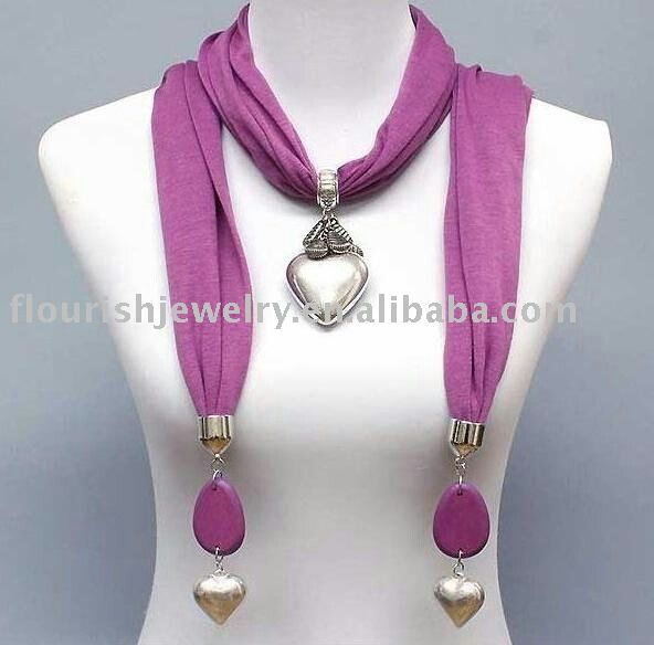Scarf necklace http://instyle-m.blogspot.co.uk/2012/07/add-glamour-with-scarf-necklaces.html?m=1