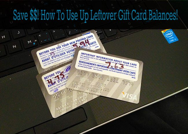 Step by step photo instructions on how to use up leftover gift card balances! Save money and treat yourself! From @kitchenmagpie