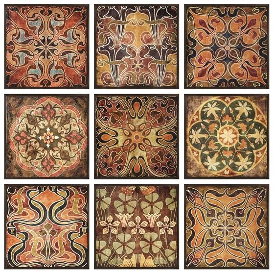 Tuscan Wall Panels - Set of 9 - Wall Sculptures - Wall Decor - Home Decor | HomeDecorators.com