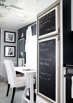 cmo usar pintura pizarra en la decoracin de la casa
