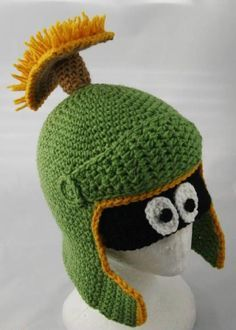 Free Crochet Character Hat Patterns | Marvin The Martian Hat