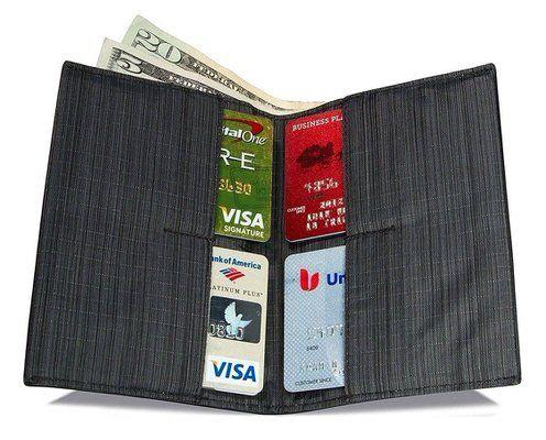 Leather Slimfold Wallet - Barbed Wire by VIDA VIDA ssf9sbwS