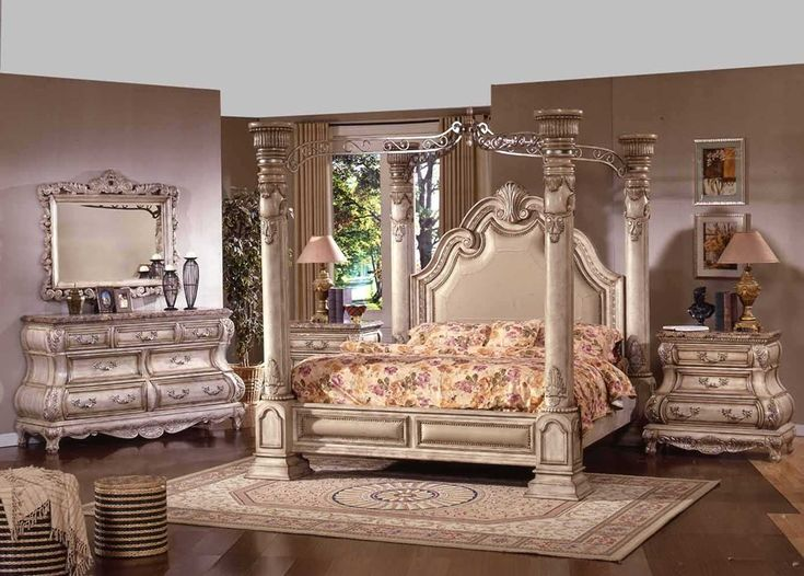 New Opera Traditional Four Post White Wash Wood King and Queen Bedroom  Furniture Set - 52 Best Antique Furniture And Wood Products Images On Pinterest