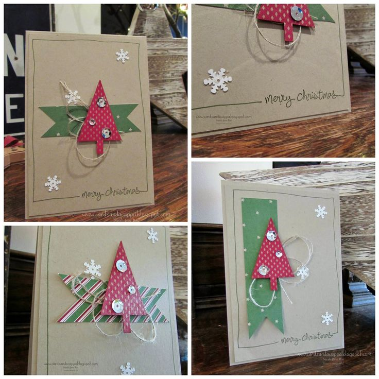 Festival of Trees and Good Greetings stamp sets by Stampin' Up. Card by UK Demonstrator Sarah-Jane Rae Cards and a Cuppa blog
