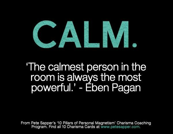 Calm words quotes