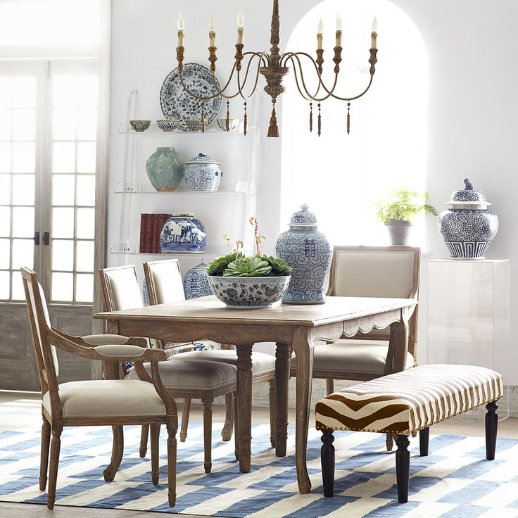 Country Dining Table With Bench: 17 Best Images About Dining Spaces On Pinterest