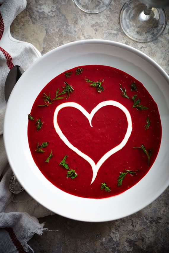 Heartbeet Soup.....what a gorgeous Starter to a Romantic Homemade Valentine Dinner <3