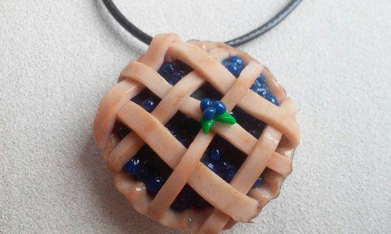 Bottle Cap Necklace - Blueberry Pie