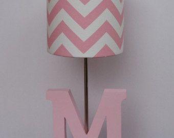 Kleines Baby Pink/White Chevron Drum Lampenschirm - Kinderzimmer oder Mädchens Lampenschirm