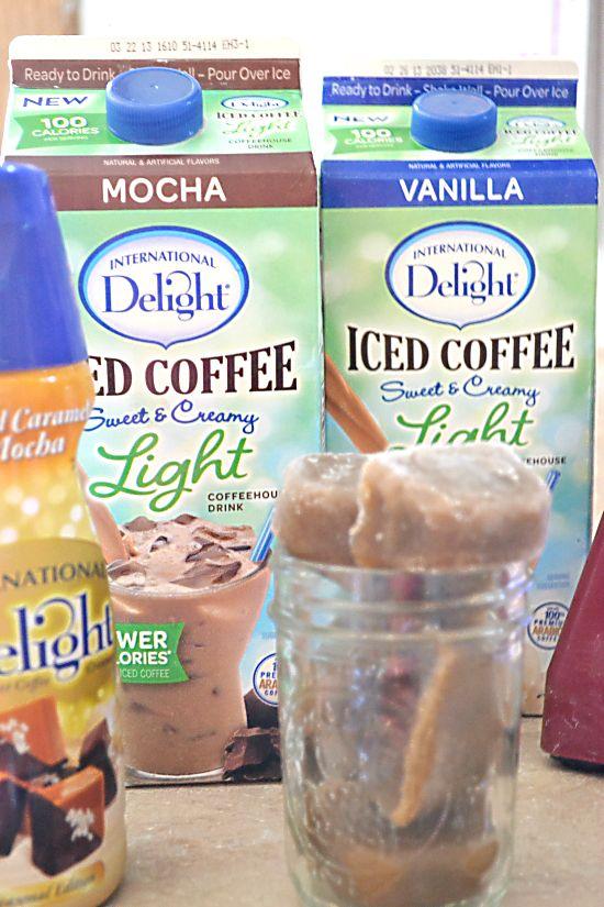 Skinny, Homemade Salted Caramel Mocha Frappuccino, recipe, copycat Frappuccino, recipe, light, lower calorie iced coffee