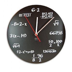 DCI Wiskunde Wandklok 30 cm - Zwart