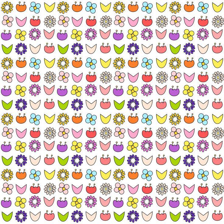 Free digital floral scrapbooking paper - ausdruckbares Geschenkpapier - freebie | MeinLilaPark