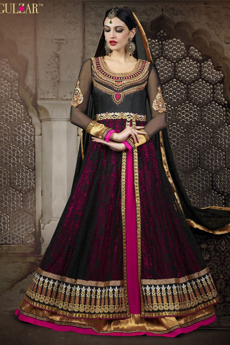 Presenting #Black Faux Georgette #Anarkali #Suit with Embroidered and Lace Work Order Now@ http://zohraa.com/beige-faux-georgette-suit-diffu1418cat33339-29668.html Rs. 4,549.
