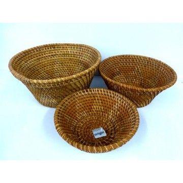 Bowl Basket Lombok Weaving 25d