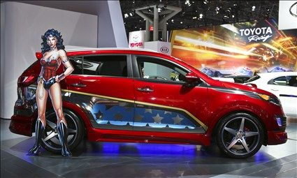 Wonder Woman Kia Sportage? I always thought of her as more of a Mustang kind of gal.