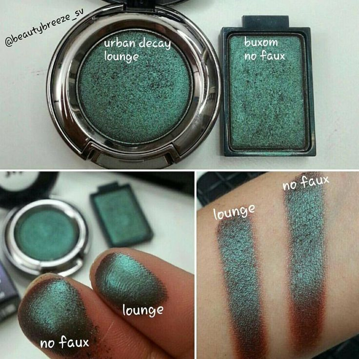 "What a stunning shade!!  We're so happy @beautybreeze_sv shared this gorgeous dupe with us. Now we can save a few bucks and grab Buxom ""No Faux"" ($12) and get the Urban Decay ""Lounge"" ($20) look!"