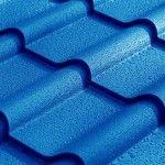 blue tile metal roofing