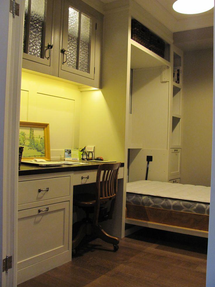 Custom Designed/Built Den-- Desk, Cabinets and Murphy Bed