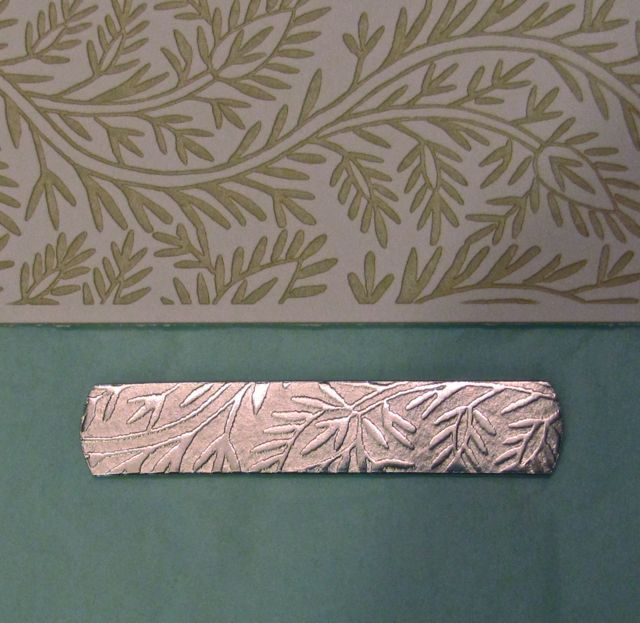 Ear in the Envelope Inc - Metal Stamping Jewelry Blog: Rolling Mill - TEXTURE WITH PAPER?