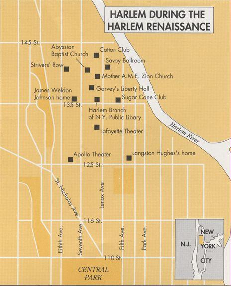 Best Harlem Renaissance Hotspots Images On Pinterest Harlem - Us map harlem