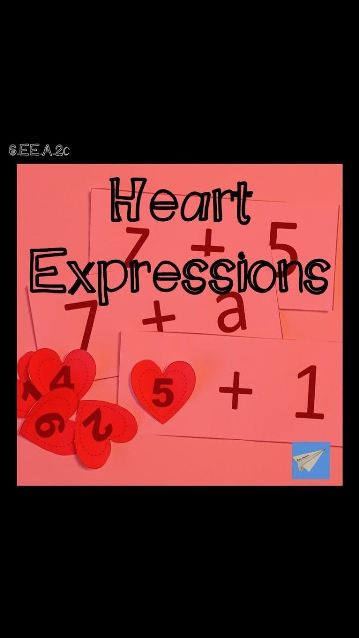 Heart Expressions Evaluating Expressions Small Group Math Algebraic Expressions [ 1280 x 720 Pixel ]