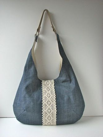 Image result for denim and lace bags