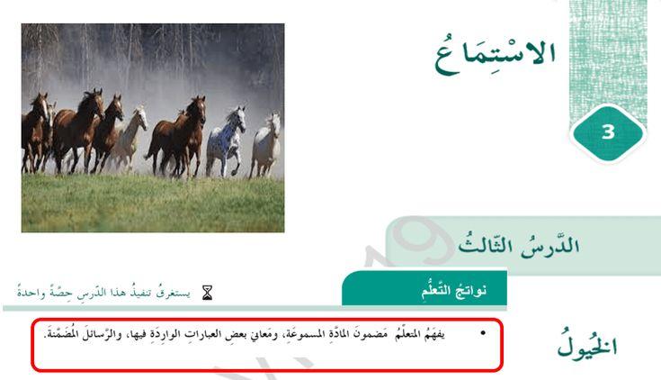اللغة العربية بوربوينت الخيول للصف السادس مع الإجابات