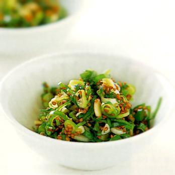 わけぎのごまじょうゆ | 上土谷恵さんのおつまみの料理レシピ | プロの簡単料理レシピはレタスクラブニュース