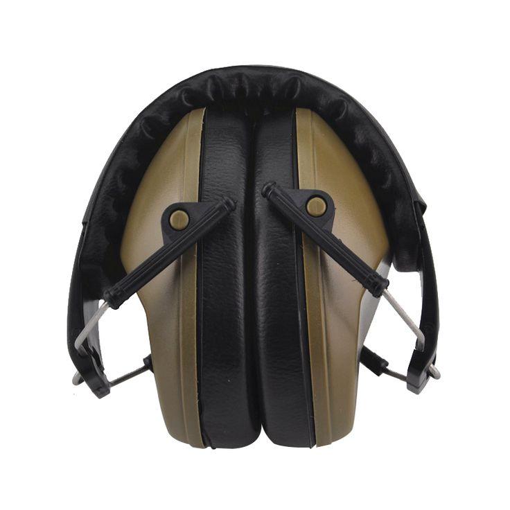 Nuevo profesional tapones para los oídos de protección de ruido insonorizadas plegable durable peltor orejeras protectores para los oídos