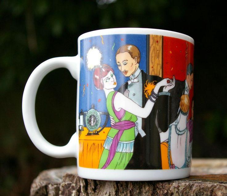 Starbucks Coffee Company Chaleur Zengo Mug Dancing Jazz Band Horns Drinks Party  | eBay