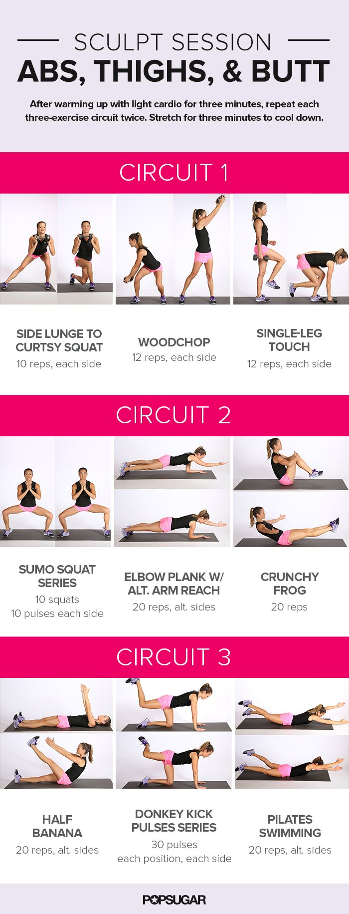Whether you're at a complete loss for how to start working out, or your stale sessions could use a little spicing up, we've got a workout poster for you. If you're looking for strength training, cardio, and combos of the two, you'll want to bookmark this for later so you can easily find these awesome kick-butt workouts on your phone or iPad. Or choose your favorites and print them out to take to the gym.