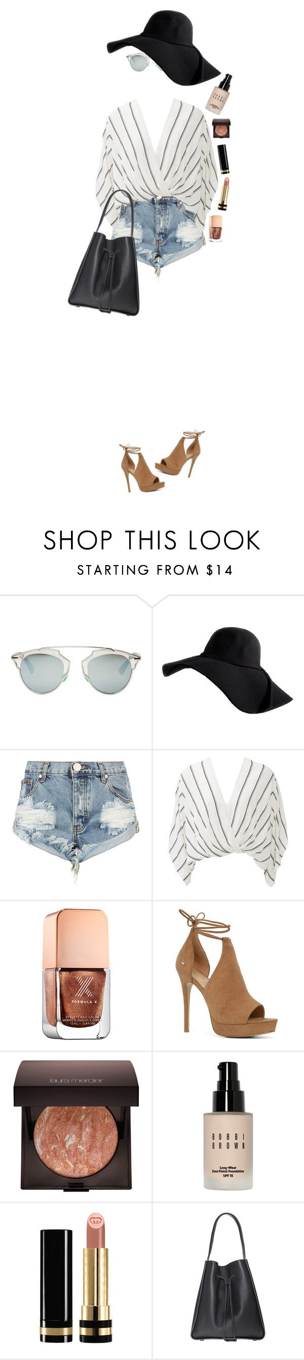 """Pack and Go: Mexico City"" by xo-kallio ❤ liked on Polyvore featuring Christian Dior, One Teaspoon, Free People, Formula X, ALDO, Laura Mercier, Bobbi Brown Cosmetics, Gucci, mexico and vacation"