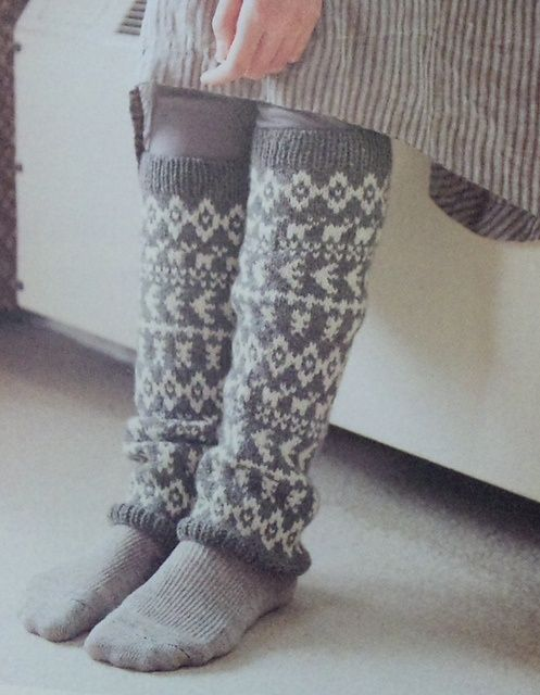 Falke makes the BEST wool boot/warmers socks...I looove this print... wonder what who the designer is?