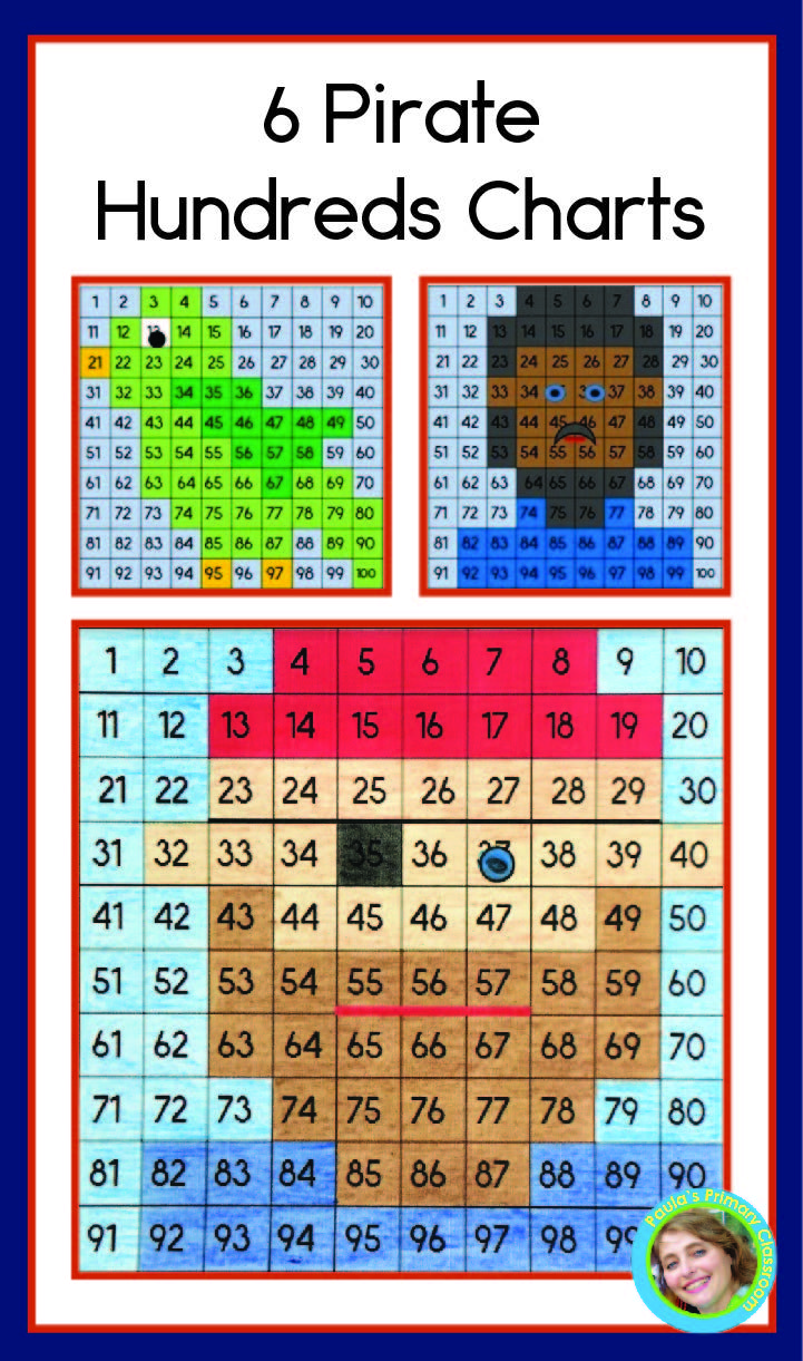 Pirates Hundreds Chart Mystery Pictures Early Elementary Resources Early Math Hundreds Chart [ 1221 x 721 Pixel ]