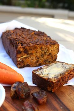 sugar free, gluten free, dairy free carrot and date bread!