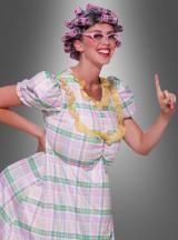Tante Gertie mit Lockenwicklerperücke. Spaßkostüm für Herren.