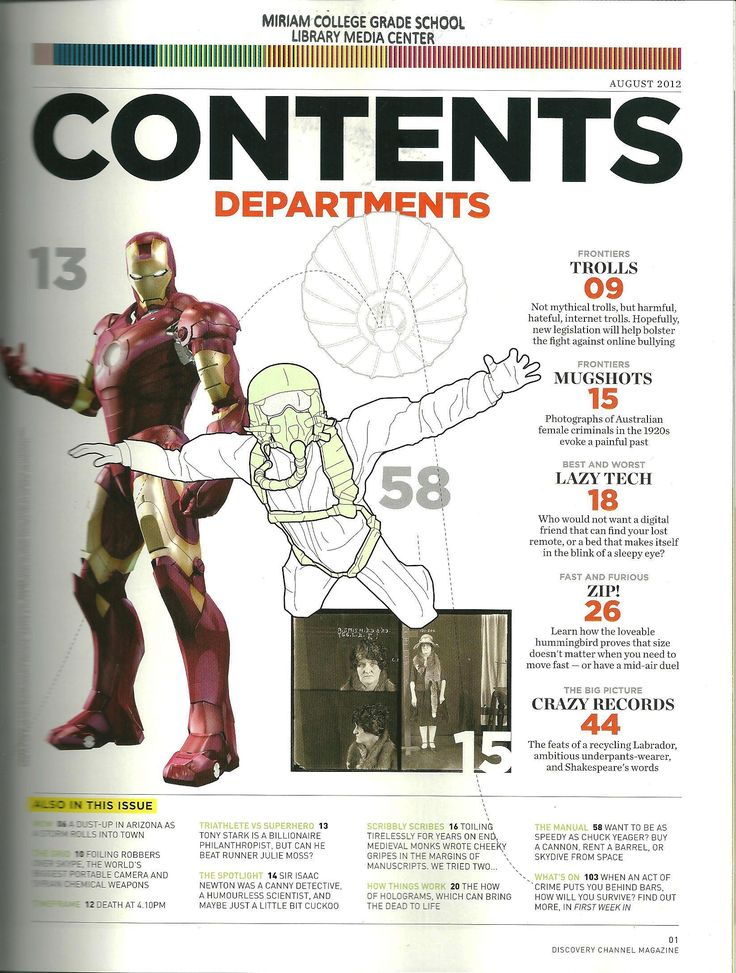 7 best magazine table of contents images on Pinterest | Magazine ...