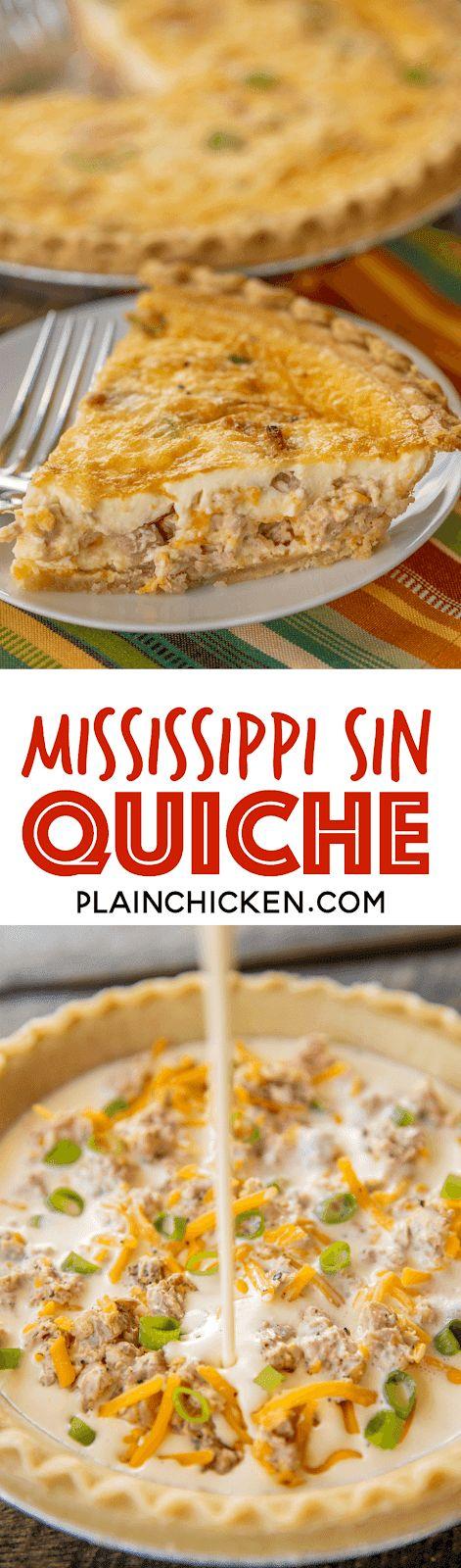 Mississippi Sin Quiche – alle Aromen unseres Lieblingsdips in einer Quiche! Kann man …