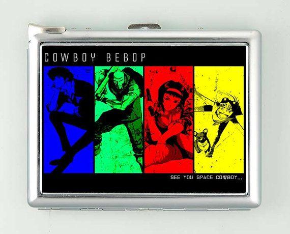 Cowboy Bebop Faye 3 Cigarette Case with Lighter Wallet Business Card Holder ***********************************  We sell only case & lighter. We do