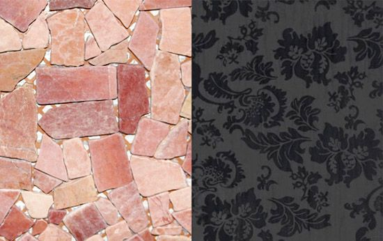 brick and lace fabric tile designs for kitchen and bathroom