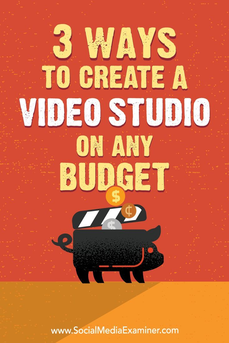 You don��t need to spend a lot on high-end camera gear and equipment for your studio to create top-notch social media videos.  In this article, you��ll discover how to set up a video studio without breaking the bank.