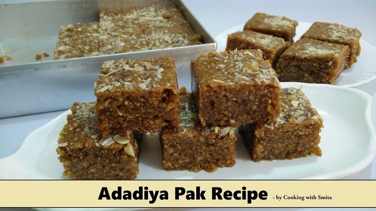 Adadiya Pak Recipe in Hindi by Cooking with Smita | Winter Special | Tra...