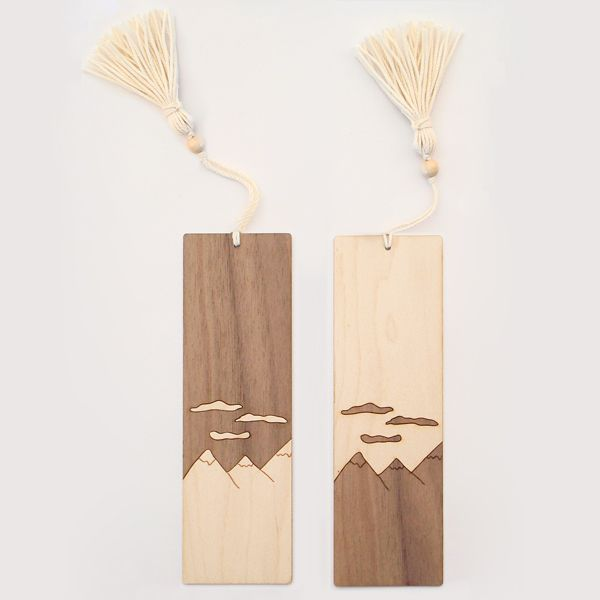 Wood Veneer Bookmarks.