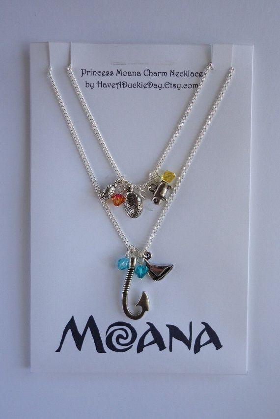 Princess Moana Charm Necklace by HaveADuckieDay on Etsy