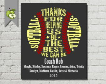 Baseball coach Appreciation gift PE Phyical by TheArtyApples