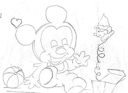 Desenhos Da Minnie Para Pintar Em Tecido: Pintura Em Fraldas De Bebe Riscos Do Mickey Baby